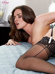 Tori Black invites you into her bedroom and shows you her tight pink.